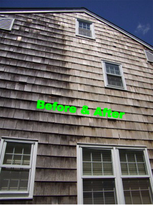 cleaning cedar shingles
